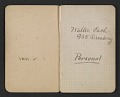 View Walter Pach notebook recording sales at the New York Armory Show digital asset: pages 1