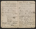 View Walter Pach notebook recording sales at the New York Armory Show digital asset: pages 2