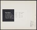 View Mark di Suvero, The A Train, 1965 digital asset: verso