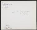 View Mark di Suvero, Stuyvesant's Eye digital asset: verso