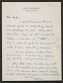 View Jackson Pollock letter to Betty Parsons digital asset number 0