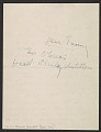 View Jackson Pollock letter to Betty Parsons digital asset: verso