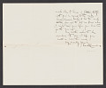 View Edward C. Caswell letter to William Ordway Partridge digital asset: verso