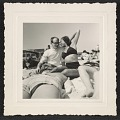 """View Andy Warhol and Corinne """"Corky"""" Kessler at Fire Island Beach digital asset number 0"""