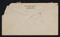 View Elizabeth Robins Pennell, New York, N.Y. letter to G. William Patten, Dorchester, Mass. digital asset: envelope verso