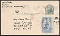 View Karl Priebe, Evansville, WI postcard to Klaus Perls, New York, N.Y. digital asset: verso