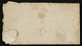 View Letter to John Frederick Peto (presumably from his father) congratulating him on 'arriving at the age of manhood' digital asset: envelope