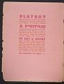 View Playboy, vol. 2, no. 1 digital asset: cover verso