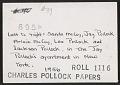 View Pollock family digital asset: verso