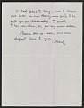 View Mark Rothko letter to Lee Krasner digital asset number 1