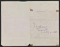 View Hans Hofmann letter to Jackson Pollock digital asset: verso