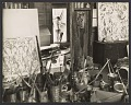 View Jackson Pollock in the doorway of his studio digital asset number 0