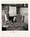 View Jackson Pollock painting in his studio digital asset number 0