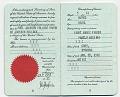 View Jackson Pollock's passport digital asset: page 1