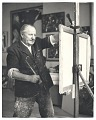 View Hans Hofmann at work in his studio digital asset number 0