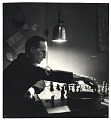 View Marcel Duchamp playing chess in his studio digital asset number 0