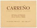 View Mario Carreño, New York, N.Y. to Enrique Riverón digital asset number 0