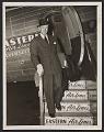 View Terence Robsjohn-Gibbings disembarking from Eastern Air Lines airplane digital asset number 0