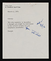 View Dwight Button letter to Helen Frankenthaler with Fourth National Bank and Trust Company newsletter digital asset number 0
