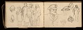 View Lewis Rubenstein's sketchbook documenting a hunger march to Washington, D.C. digital asset number 17