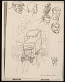 View Lewis W. Rubenstein sketchbook of hunger walk to Washington digital asset number 1