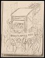 View Lewis W. Rubenstein sketchbook of hunger walk to Washington digital asset number 3