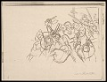 View Lewis W. Rubenstein sketchbook of hunger walk to Washington digital asset number 5