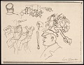 View Lewis W. Rubenstein sketchbook of hunger walk to Washington digital asset number 6