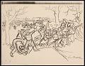 View Lewis W. Rubenstein sketchbook of hunger walk to Washington digital asset number 8