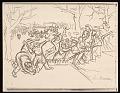 View Lewis W. Rubenstein sketchbook of hunger walk to Washington digital asset number 9