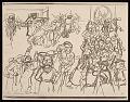 View Lewis W. Rubenstein sketchbook of hunger walk to Washington digital asset number 10