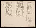View Lewis W. Rubenstein sketchbook of hunger walk to Washington digital asset number 12