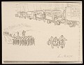 View Lewis W. Rubenstein sketchbook of hunger walk to Washington digital asset number 13