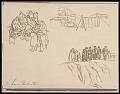 View Lewis W. Rubenstein sketchbook of hunger walk to Washington digital asset number 14