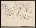 View Lewis W. Rubenstein sketchbook of hunger walk to Washington digital asset number 15