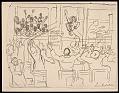 View Lewis W. Rubenstein sketchbook of hunger walk to Washington digital asset number 19