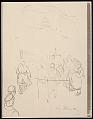 View Lewis W. Rubenstein sketchbook of hunger walk to Washington digital asset number 21