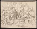 View Lewis W. Rubenstein sketchbook of hunger walk to Washington digital asset number 22