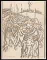 View Lewis W. Rubenstein sketchbook of hunger walk to Washington digital asset number 24