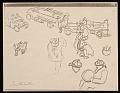 View Lewis W. Rubenstein sketchbook of hunger walk to Washington digital asset number 25