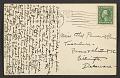 View Olive Rush, Phoenix, Ariz. postcard to Ethel Pennewill Brown, Wilmington, Del. digital asset: postcard back 2