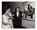 View Aline and Eero Saarinen in formal dress with a Picasso painting digital asset number 0