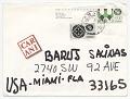 View Miguel Cubiles, Mexico, to Baruj Salinas, Miami, Fla. digital asset: envelope