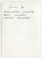 View Baruj Salinas, Alexander Calder, and Camilio Franqui digital asset: verso