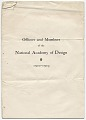 View Officers and Members of the National Academy of Design digital asset: cover