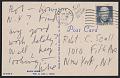View Michael Heizer postcard to Robert C. Scull digital asset: verso