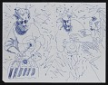 View Blue ink drawing of musicians digital asset number 0