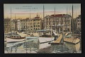 View Postcard with image of yachts in the Marseilles harbor digital asset number 0