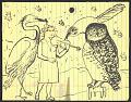 View Honoré Sharrer sketch of a violinist and over-sized birds digital asset number 0