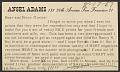 View Ansel Easton Adams postcard to Charles Sheeler digital asset number 0